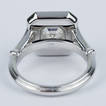 Vintage-Inspired Asscher Diamond Halo Engagement Ring - small angle 4