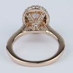 Two-Sided Halo Diamond Engagement Ring in Rose Gold - small angle 4