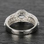 Custom Halo Three-Row Diamond Engagement Ring (0.75 ct.) - small angle 4