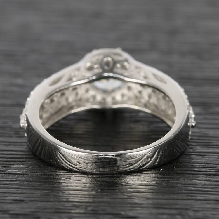Custom Halo Three-Row Diamond Engagement Ring (0.75 ct.) angle 4