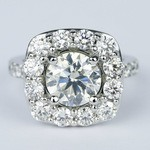 Oversized Halo Engagement Ring with 2.50 Carat Round Diamond - small