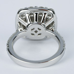 Oversized Halo Engagement Ring with 2.50 Carat Round Diamond - small angle 4
