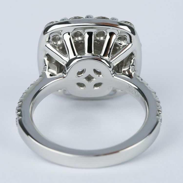 Oversized Halo Engagement Ring with 2.50 Carat Round Diamond angle 4
