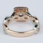 Twisted Two-Tone Halo Diamond Engagement Ring (1 Carat) - small angle 4