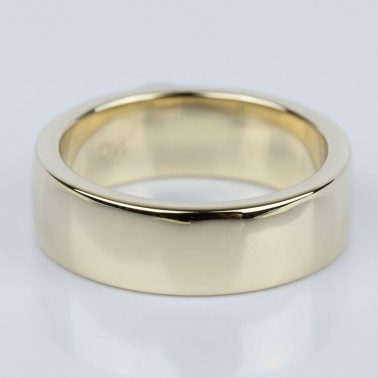Custom Heart Diamond Wedding Ring in Yellow Gold angle 4