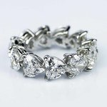 Custom Heart Shape Diamond Eternity Ring in Platinum - small