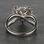 Custom Heart Loose Diamond Engagement Ring in White Gold - small angle 4