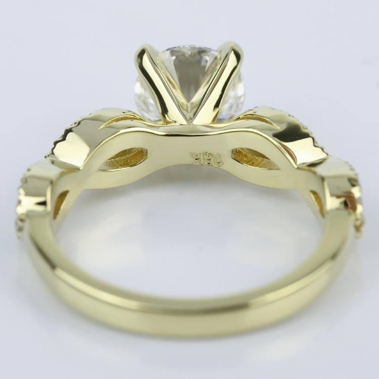 Custom Infinity Twist Diamond Engagement Ring (1.30 ct.)  angle 4