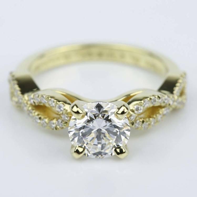 Custom Infinity Twist Diamond Engagement Ring (1.30 ct.)