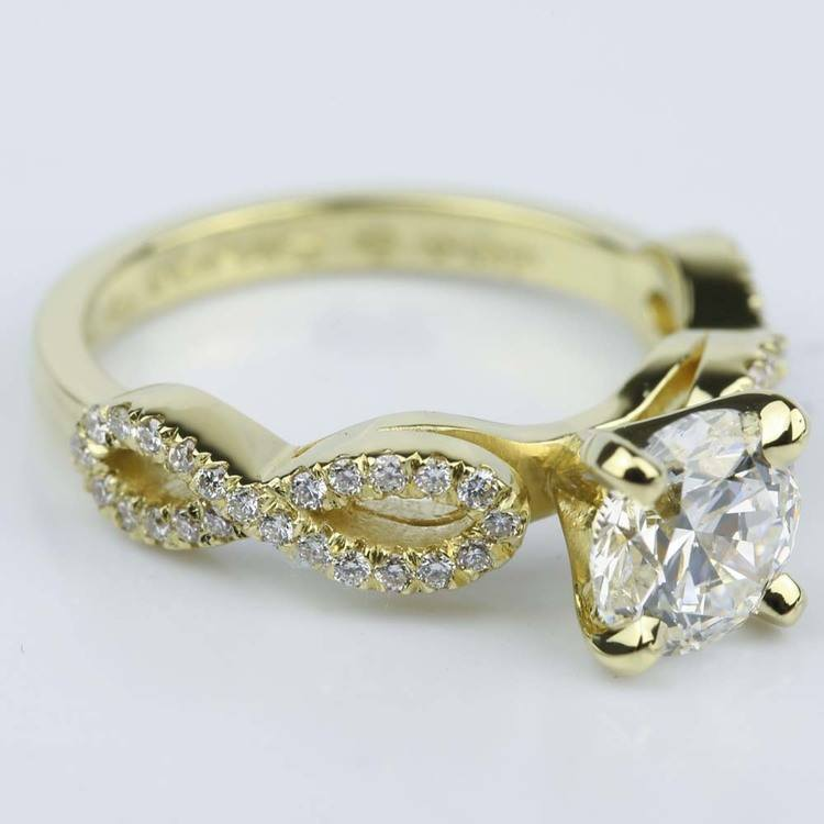 Custom Infinity Twist Diamond Engagement Ring (1.30 ct.)  angle 3