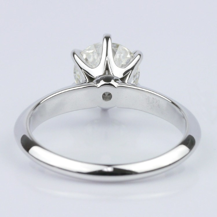Custom Knife Edge Solitaire Engagement Ring (1.72 ct.) angle 4