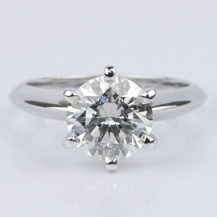 Custom Knife Edge Solitaire Engagement Ring (1.72 ct.)