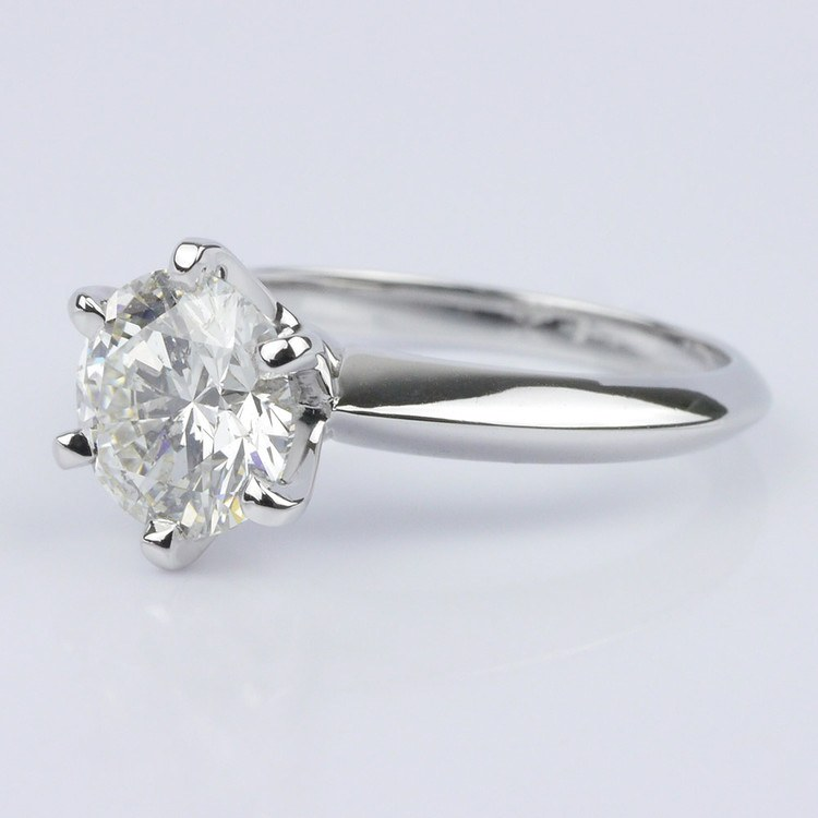 Custom Knife Edge Solitaire Engagement Ring (1.72 ct.) angle 2