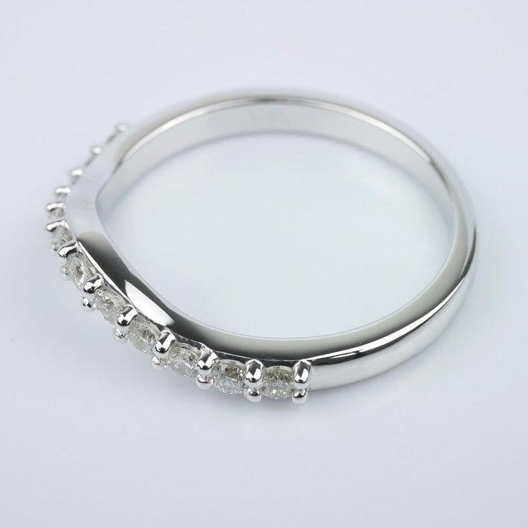 Custom Matching Diamond Band angle 2