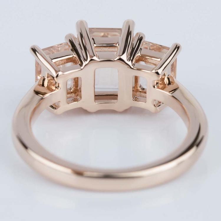 Custom Morganite Gemstone Engagement Ring in Rose Gold angle 4