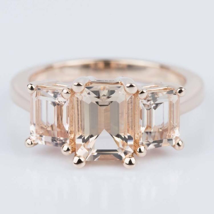 Custom Morganite Gemstone Engagement Ring in Rose Gold