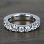 Custom Nine-Stone Scallop Diamond Wedding Ring - small