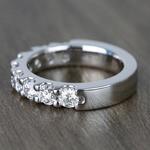 Custom Nine-Stone Scallop Diamond Wedding Ring - small angle 2