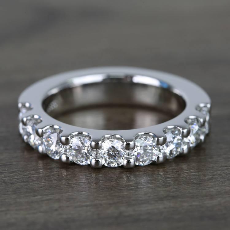 Custom Nine-Stone Scallop Diamond Wedding Ring