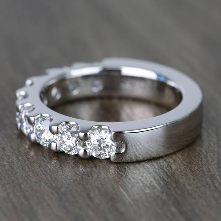Custom Nine-Stone Scallop Diamond Wedding Ring angle 2