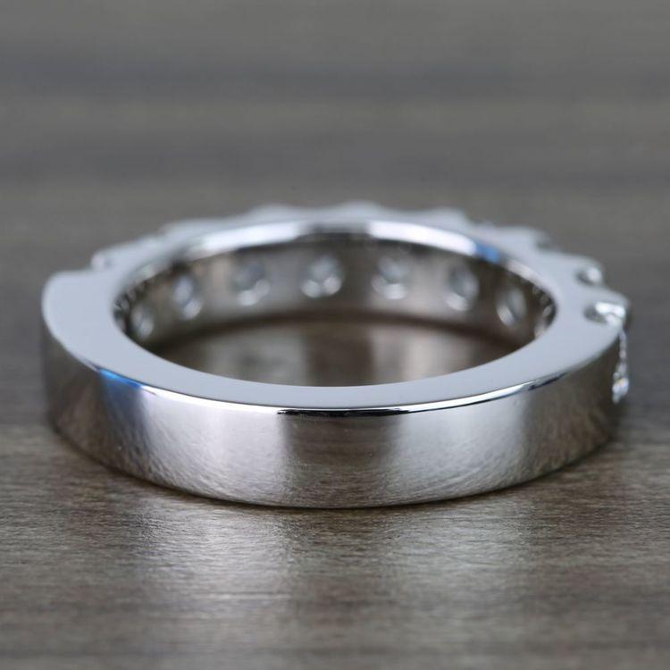 Custom Nine-Stone Scallop Diamond Wedding Ring angle 4