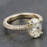 Custom Oval Diamond Engagement Ring (2 Carat) - small angle 3