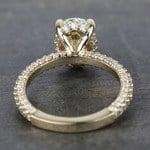 Custom Oval Diamond Engagement Ring (2 Carat) - small angle 4