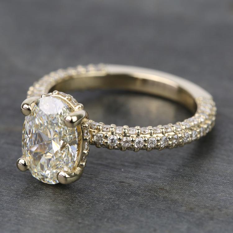 Custom Oval Diamond Engagement Ring (2 Carat) angle 2