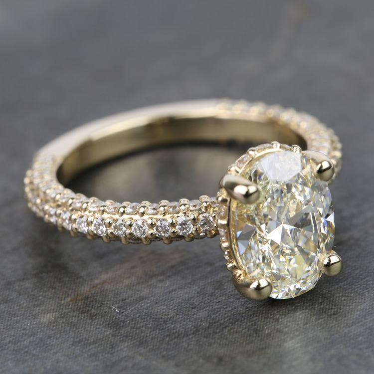 Custom Oval Diamond Engagement Ring (2 Carat) angle 3