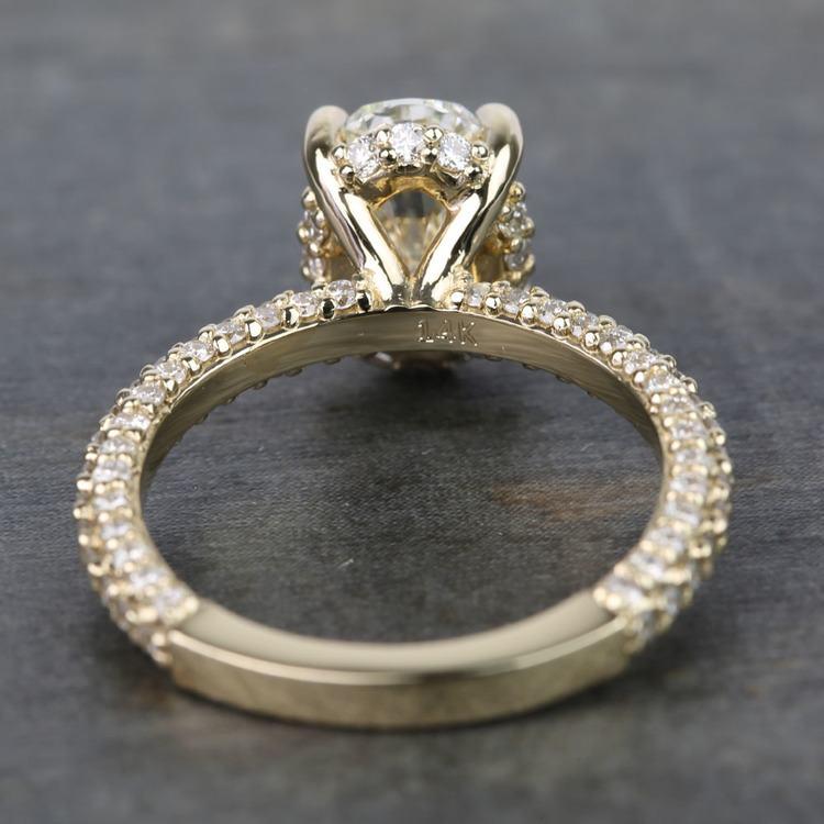 Custom Oval Diamond Engagement Ring (2 Carat) angle 4