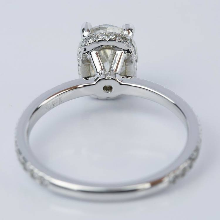 Custom Oval Engagement Ring in White Gold (2 ct.) angle 4