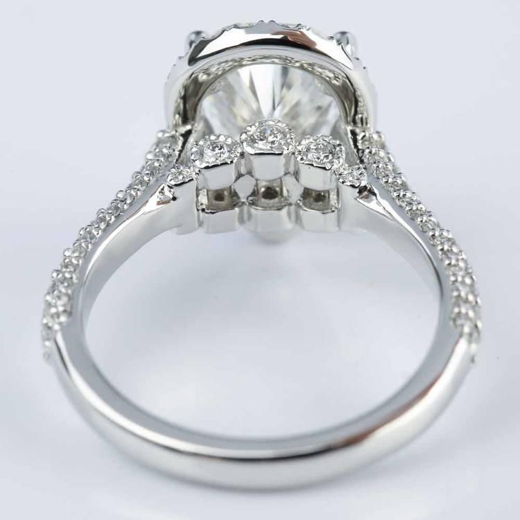 Custom Pear Cut Diamond Halo Engagement Ring (2 Carat) angle 4