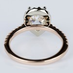 Custom Pear Halo Engagement Ring in Rose & White Gold (1.01 ct.) - small angle 4