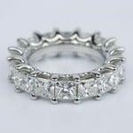 Custom Princess-Cut Diamond Eternity Band in Platinum - small