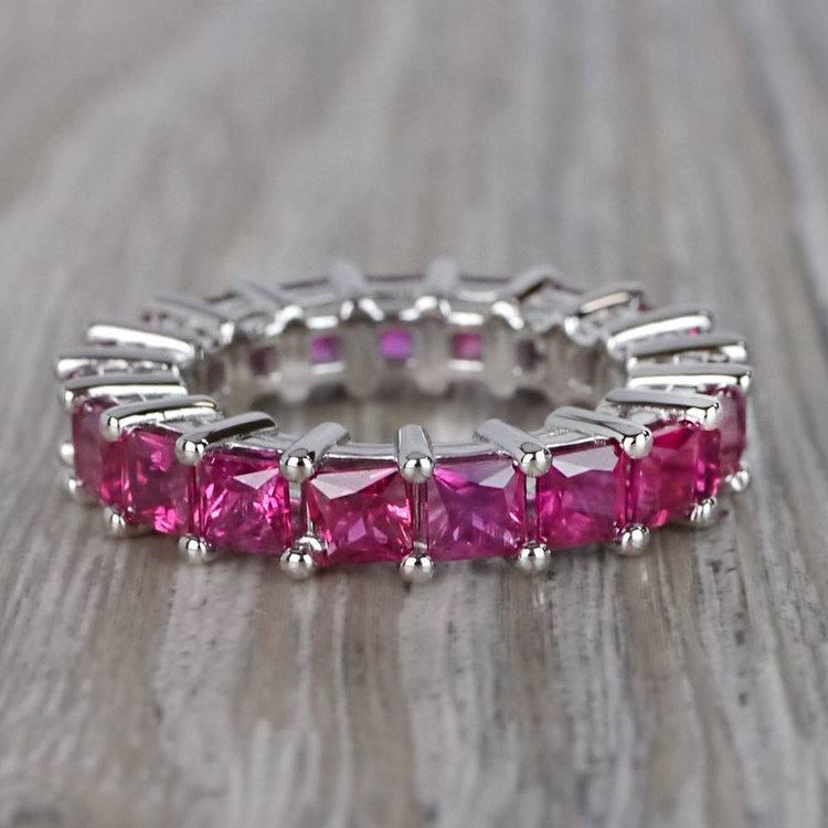 Custom Ravishing Ruby Eternity Band