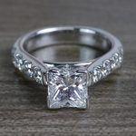 Custom Regal Princess Cut Diamond Solitaire Engagement Ring - small