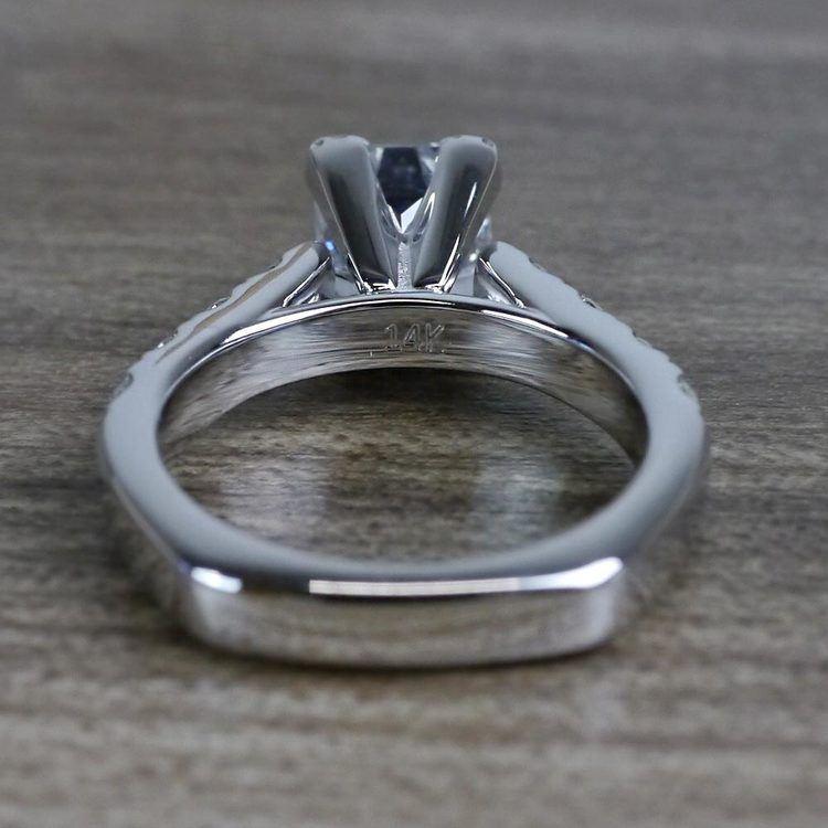 Custom Regal Princess Cut Diamond Solitaire Engagement Ring angle 4