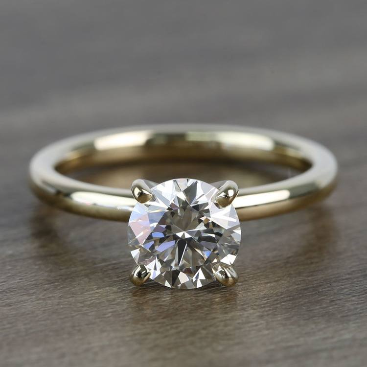 Custom Round 1 Carat Solitaire Diamond Engagement Ring