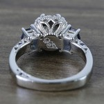 Custom Round Diamond & Sapphire Halo Ring (1 Carat) - small angle 4
