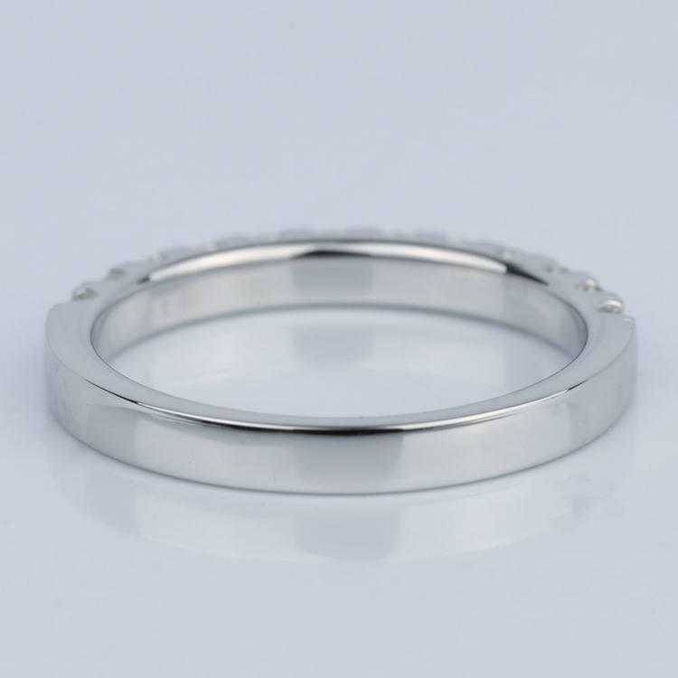 Custom Scallop Diamond Wedding Band in 18K White Gold angle 4