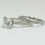 1.30 Carat Round Diamond Engagement Ring with Matching Band - small angle 3