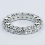 Custom Shared-Prong Platinum Diamond Eternity Ring (4 ctw.) - small