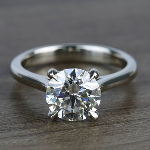 Custom Solitaire 1.75 Carat Round Diamond Engagement Ring