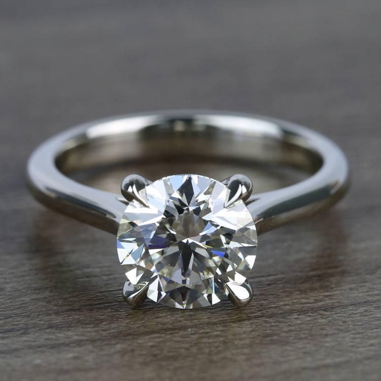 Custom Solitaire 1.75 Carat Round Diamond Engagement Ring