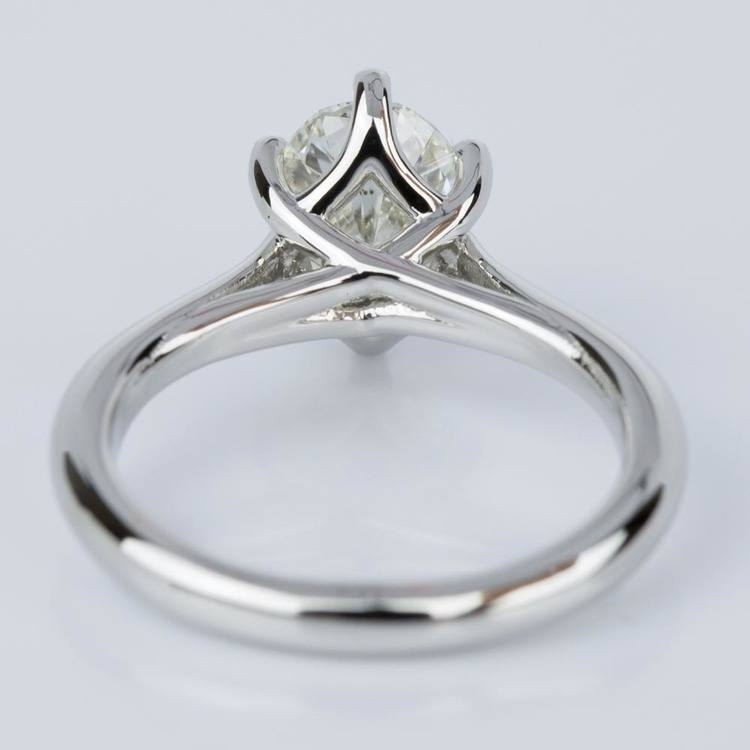 Custom Oval Diamond Solitaire Engagement Ring in Platinum (2.01 ct.) angle 4