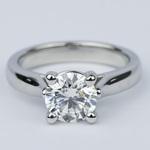 Custom Solitaire Diamond Engagement Ring in Platinum (1.43 ct.) - small