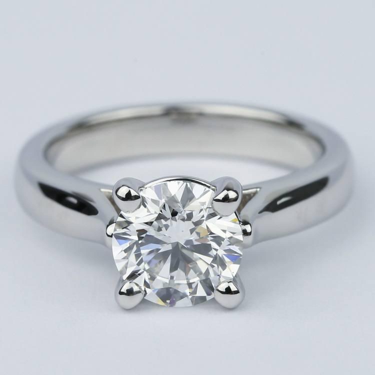 Custom Solitaire Diamond Engagement Ring in Platinum (1.43 ct.)