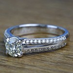 Custom Split Shank 0.90 Carat Round Diamond Engagement Ring  - small angle 2