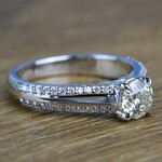 Custom Split Shank 0.90 Carat Round Diamond Engagement Ring  - small angle 3