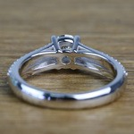 Custom Split Shank 0.90 Carat Round Diamond Engagement Ring  - small angle 4